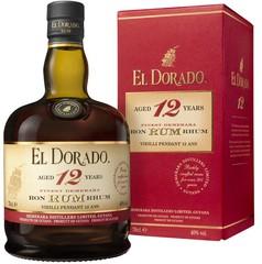 El Dorado Rum 12 YO 70cl, 40%, dárkové balení